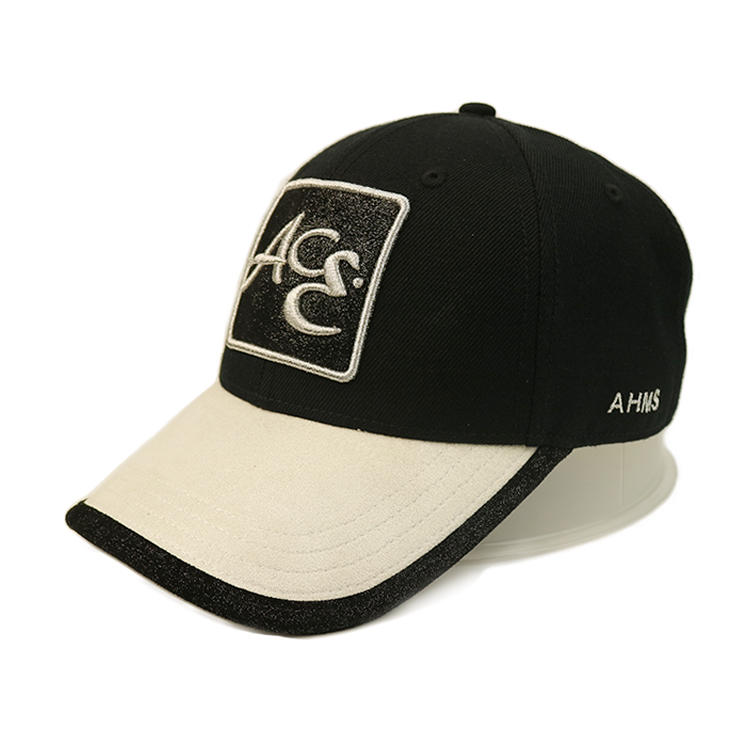 Custom baseball cap hat,customized sports cap hat,sports caps and hats with Black trim