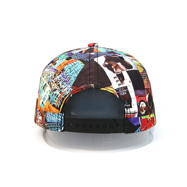 High-end ACE Unisex OEM ODM Creative Graffiti Design Leather with Leather Patch Snapback Curve Brim Cap Hat