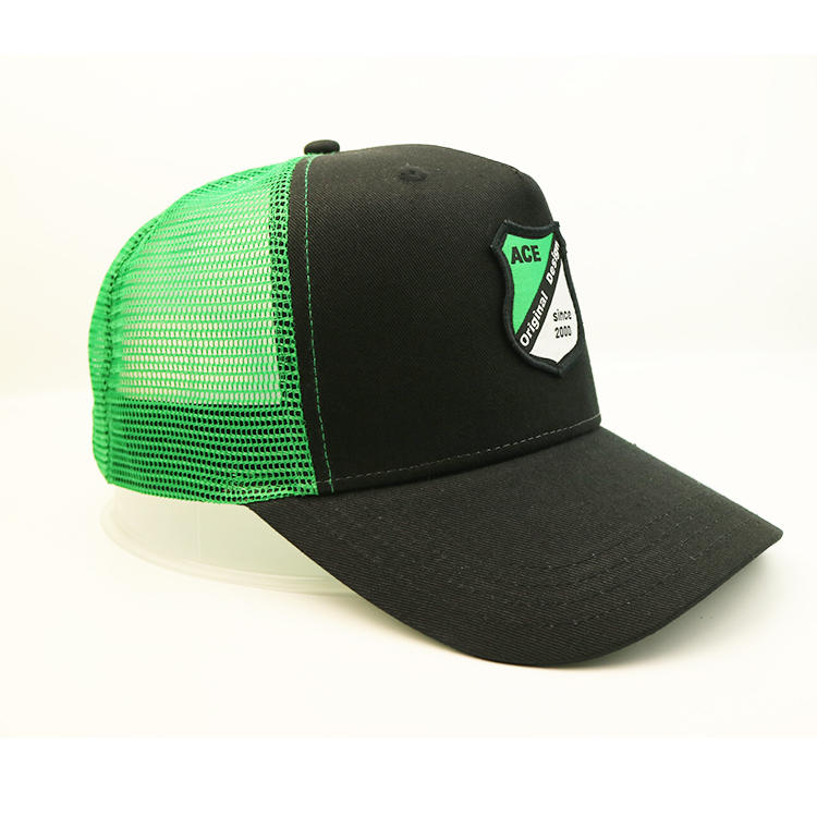 5 panel mesh cap with custom logo embroidered patches custom baseball cap with patch