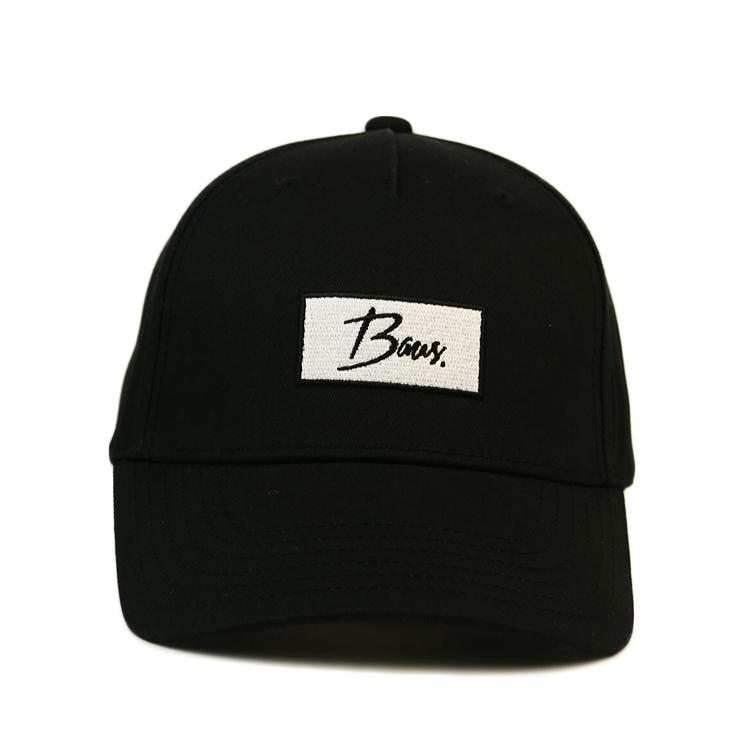 6 Panel Curved Brim Custom Baseball Caps With Plastic Buckle Hats Bsci