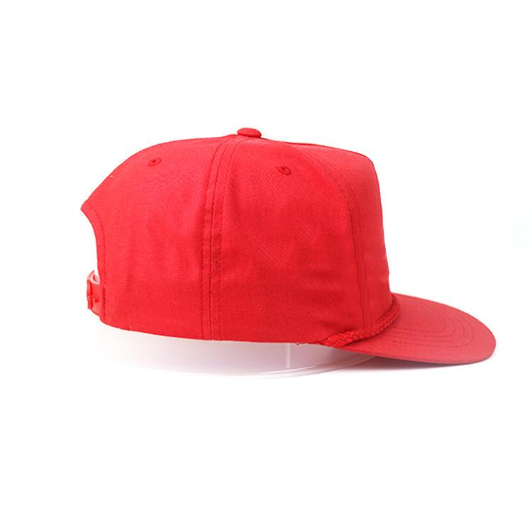 Custom design 6panel falt brim red ACE Headwear owl printing logo snapback hats caps