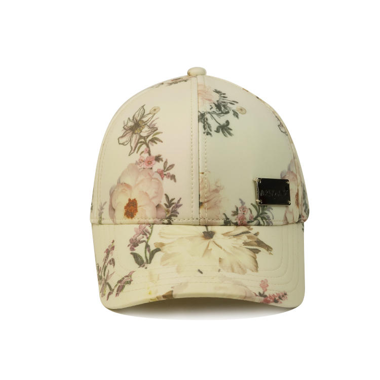 Get free sample delivery within 15 days Wholesale custom 6 panel men sublimation pattern  baseball cap with metal badge
