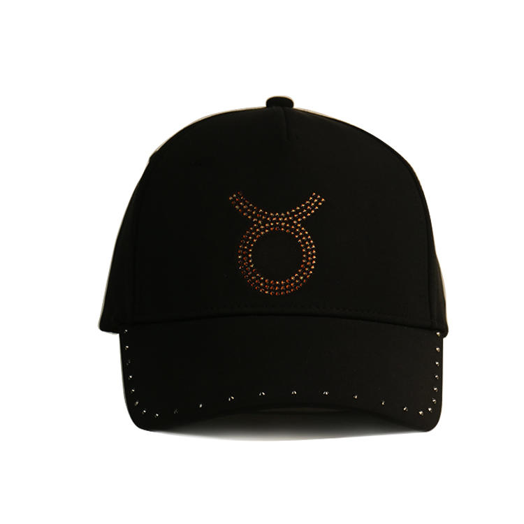 Fashion Design Unisex Bling Bling Adjustable Baseball Cap Hat 6 panel cotton promotional custom Rhinestone baseball cap