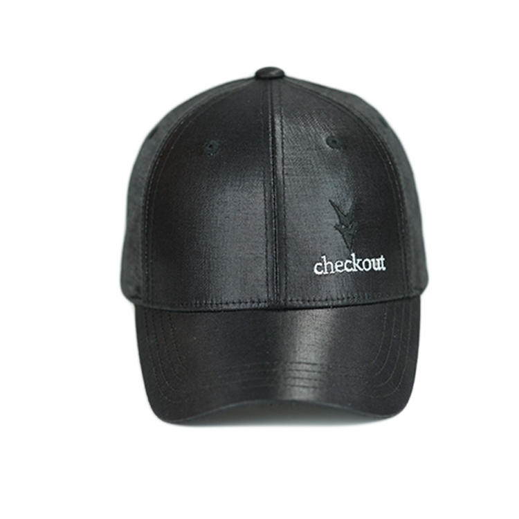 custom embroidery craft leather fabric baseball curve brim cap hat