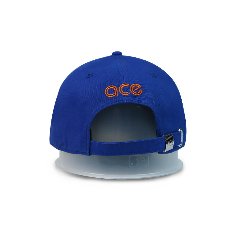 Men And Women Embroidered Dad Hat 100% Cotton navy blue  Baseball Cap with metal buckle