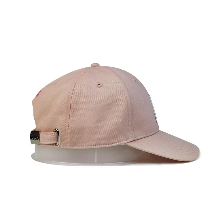 Fashion hot sale adjustable youth plain baseball caps embroidered custom logo pink dad hat