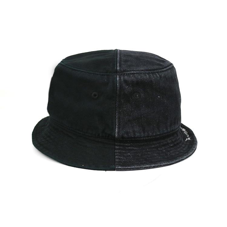 Custom design blank black demin summer fisherman bucket hats caps