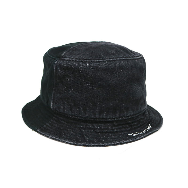 Custom design blank black demin summer fisherman bucket hats caps