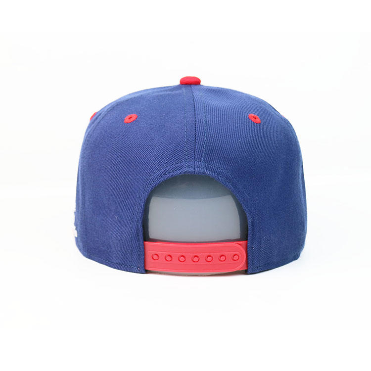 Blue Flat Brim Mix Color 6panel Custom Made printing Logo Hip Hop Snapback Hats