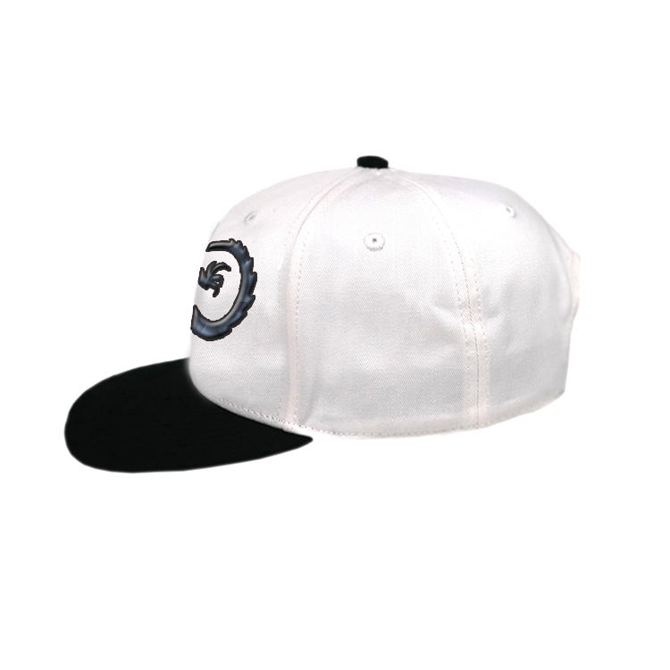 Custom Black 6 Panel Rubber Printing Vintage Gecko Snapback Hats