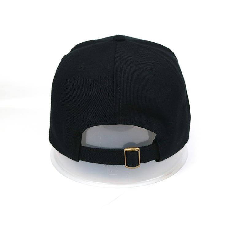 Unisex 6 Panel Black Custom Printing  Dad Baseball Hat Caps With Logo
