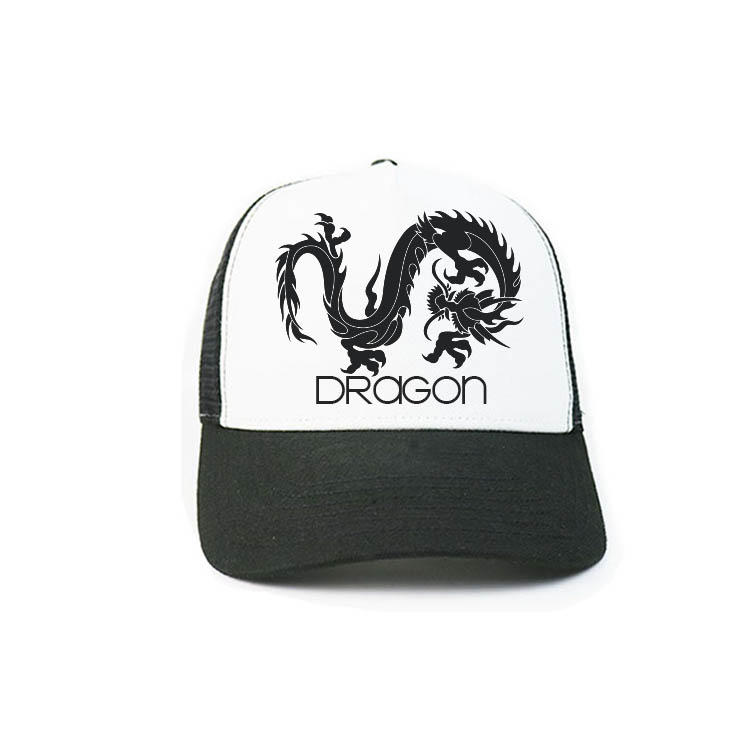 Chinese Style Custom Adult Cotton Logo printing  5panel Foam Mesh Trucker Hats