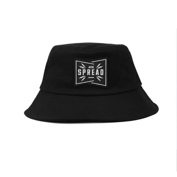 2020 support sample unisex men women black cotton fishing print bucket cap custom hat embroidery bucket hat