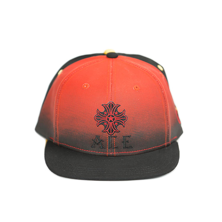China factory snapback custom water print logo promotion red snapback cap with 3D embroidery logo