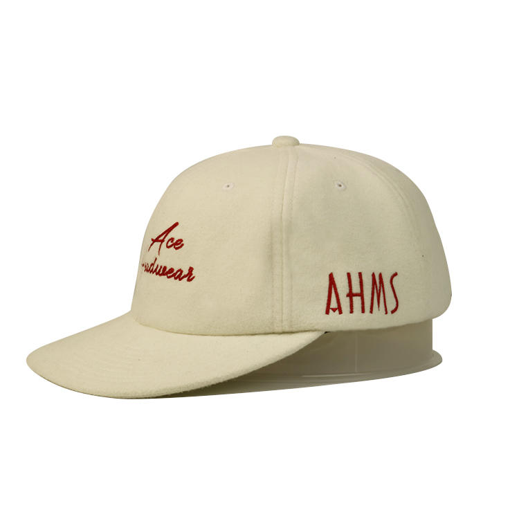 Wool Velvet Style 6Panel Hats Whiter Sunday Metal Buckle Baseball Caps hats