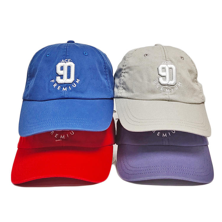 Wholesale high quality custom 3D embroidered dad hat cap baseball