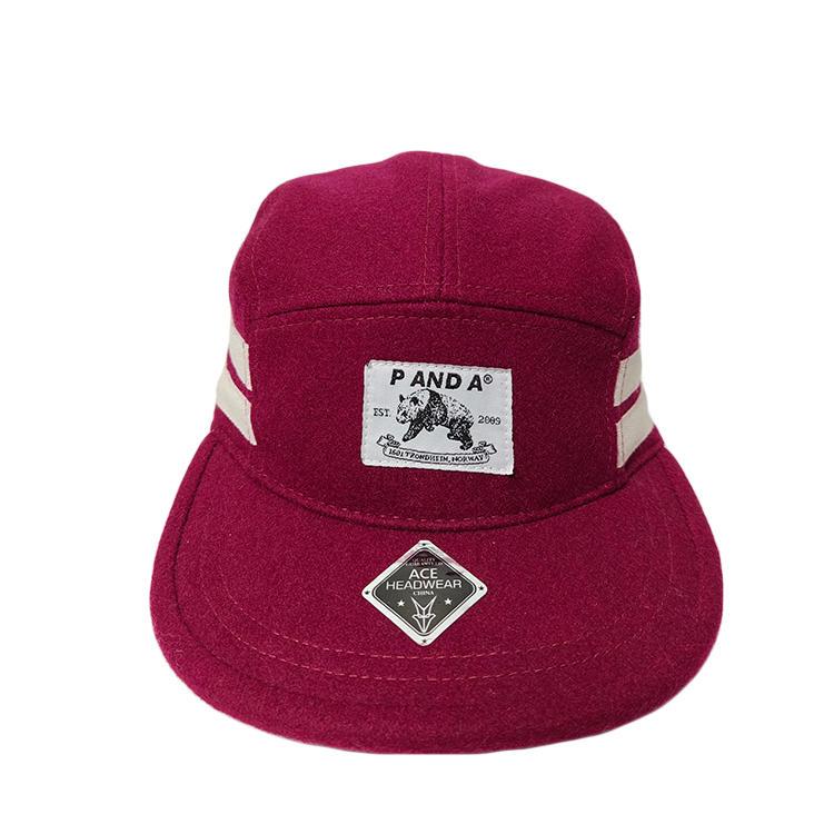 ACE High Quality Custom Logo Flat Brim Camper Hat Cap