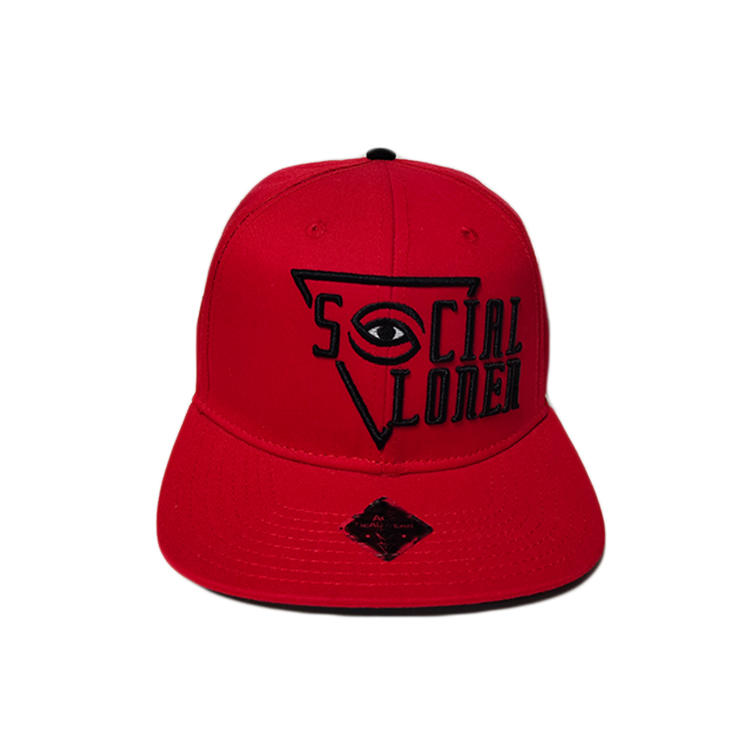 ACE high quality unisex hip hop custom logo red snapback cap hat