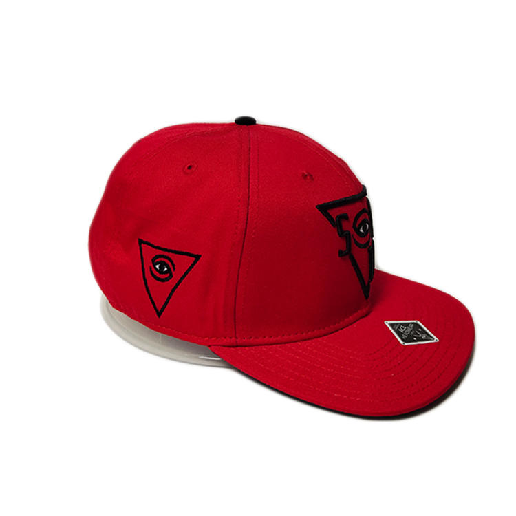 ACE high quality unisex hip hop custom logo red snapback cap hat