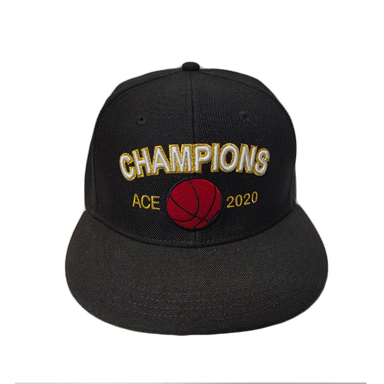 ACE Custom flat Birm Snapback Cap with 3D embroidery Logo Hip Hop hat cap