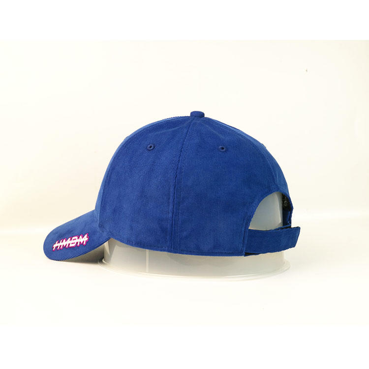 High Quality Corduroy Fabric Embroidery For Front Panels And Brim Baseball Curve Brim Cap Hat