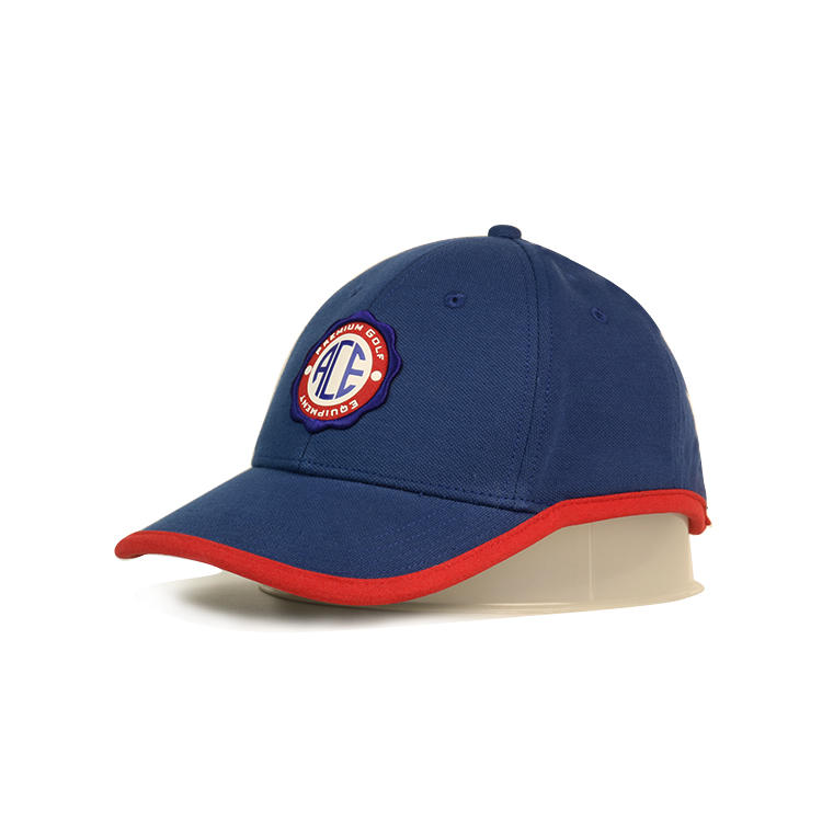 Custom design blue special style ACE leather patch sports baseball caps hats