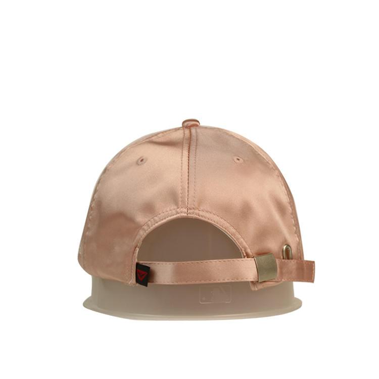 Special Silk Breathable Snow Rhinestone Pink Women Sports Baseball Hats