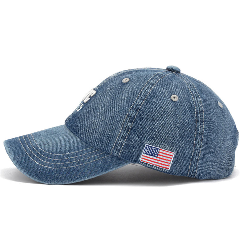 Breathable Perforated Custom 3D Embroidered 6 panels Jeans Sports Caps Racing Hat all Mesh Baseball Cap