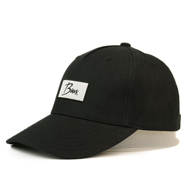 Ace Black Cotton Cap Adjustable Design Sports Baseball Cap Bsci