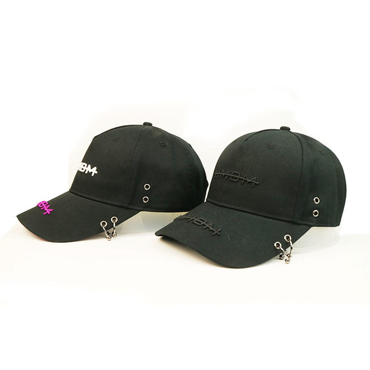 High quality custom logo 3D embroidery letters black baseball caps hats