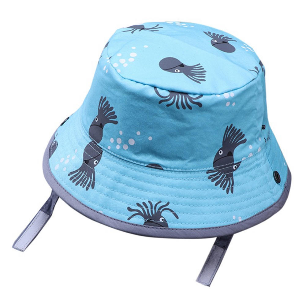 Factory Custom Toddler Sun Protection Hats Plain Baby Bucket Hat Children Blank Wide Brim Cap Boy Girl Fishing Bucket Cap
