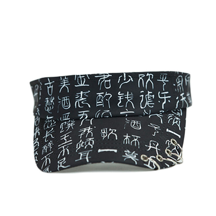 High Quality Custom New Style Chinese Style Sunvisor Cap Hat With Ring Design