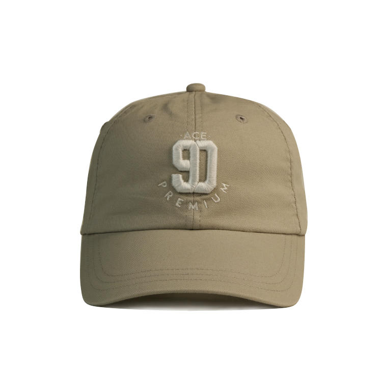 Custom embroidery logo solid color curve brim baseball cap hat with metal back closure