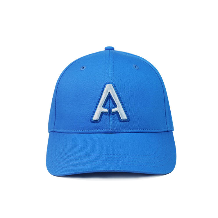 High quality unisex solid color custom logo baseball curve brim hat cap