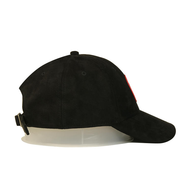 High quality custom design logo rubber patch 6panel baseball hats caps