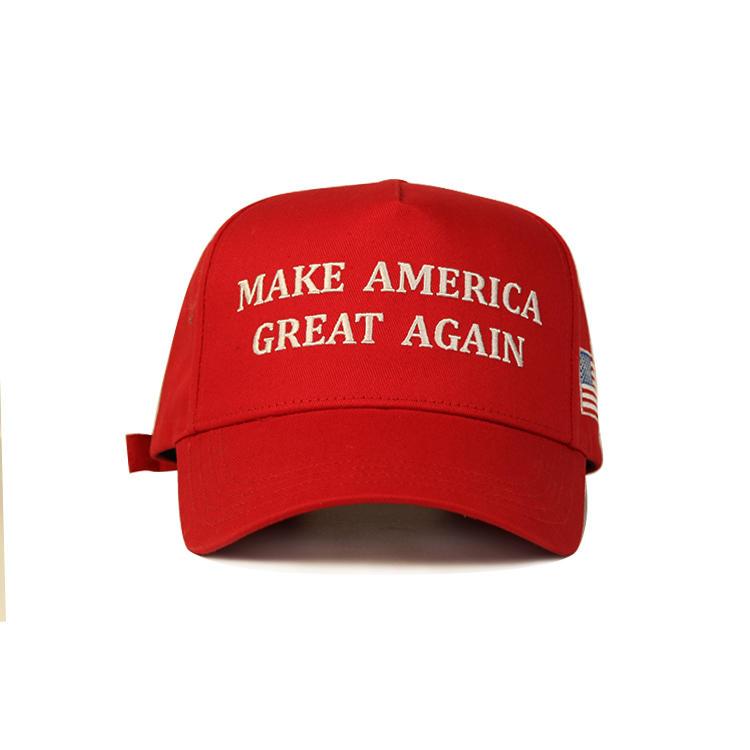 Hot sales red color America Trump baseball curve brim hat cap