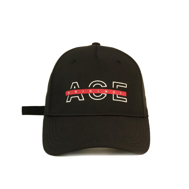 High qualuty ACE custom logo flat embroidery and printing baseball caps hats