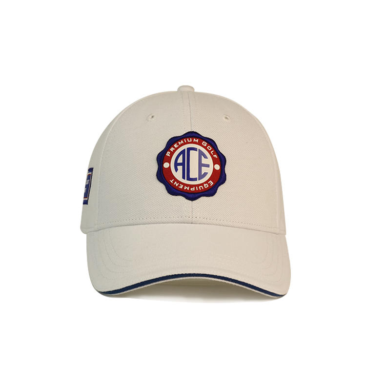 ACE Headwear custom design rubber patches metal buckle baseball caps hats