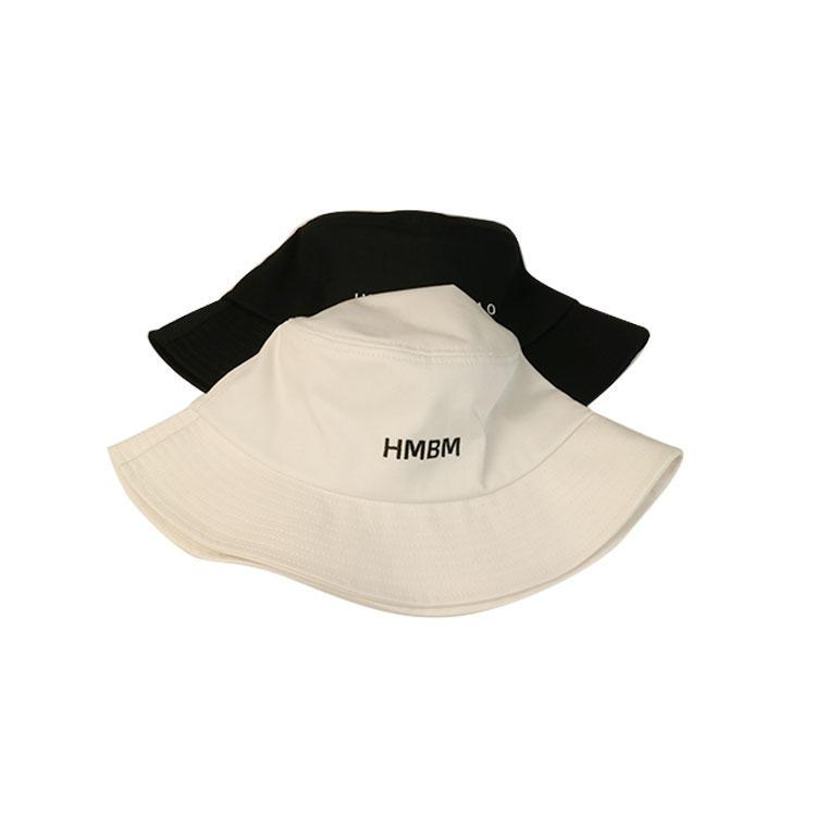Fashionable summer style black and white custom logo fishing bucket hats