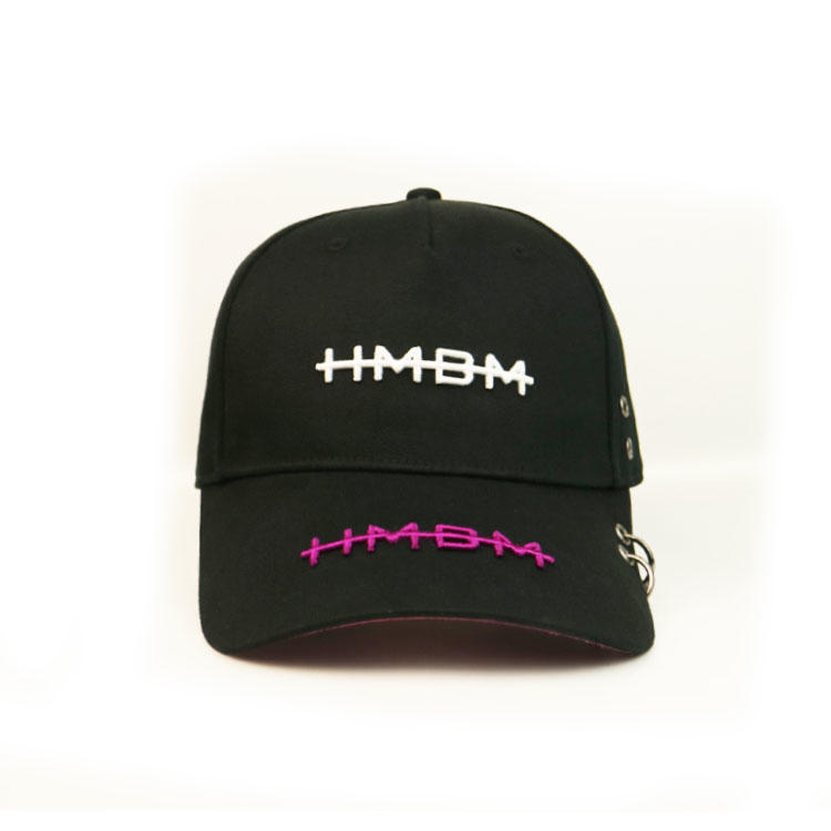 Curved Brim Baseball Hats Custom Embroidered Logo Baseball Caps Strap With Metal Buckle