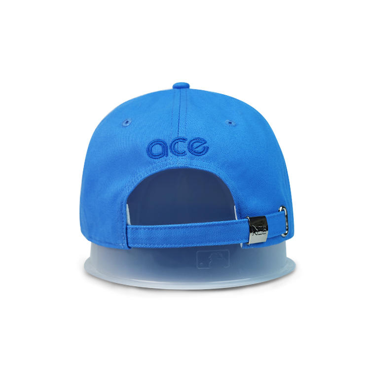 ACE hot sales blue solid color 3D embroidery baseball curve brim hats