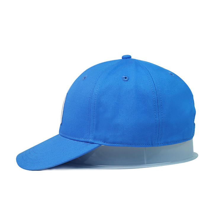 ACE hot sales blue solid color 3D embroidery baseball curve brim hats