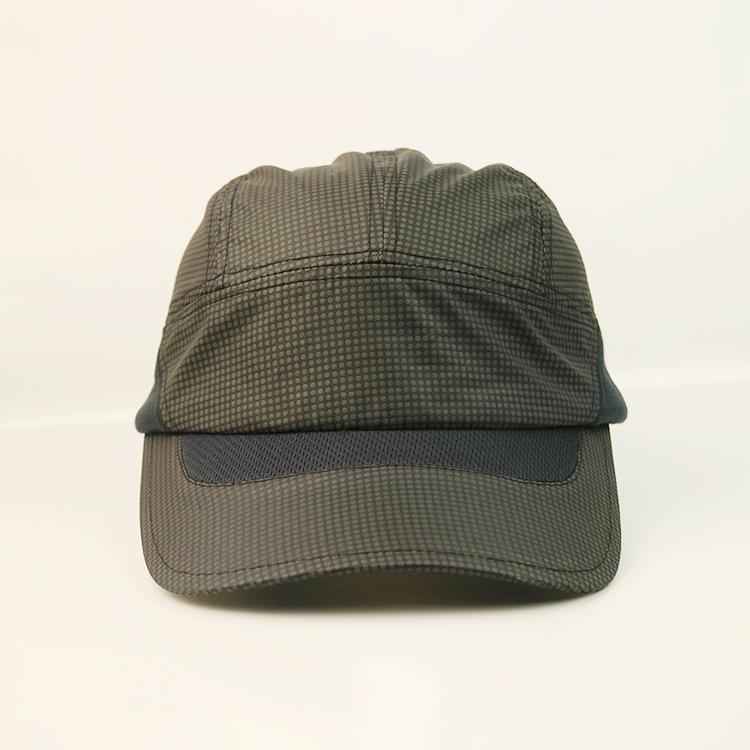 Dark Grey Soft Dry Running Fit Unstructured Mens Golf Sports Baseball Cap Hat