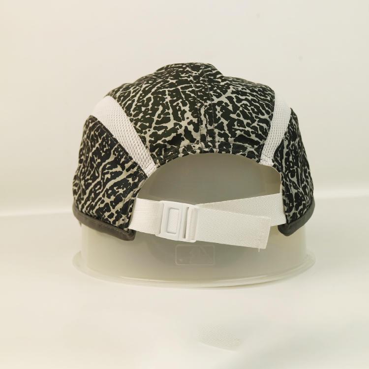 High-end leopard print curve brim sports cap hat