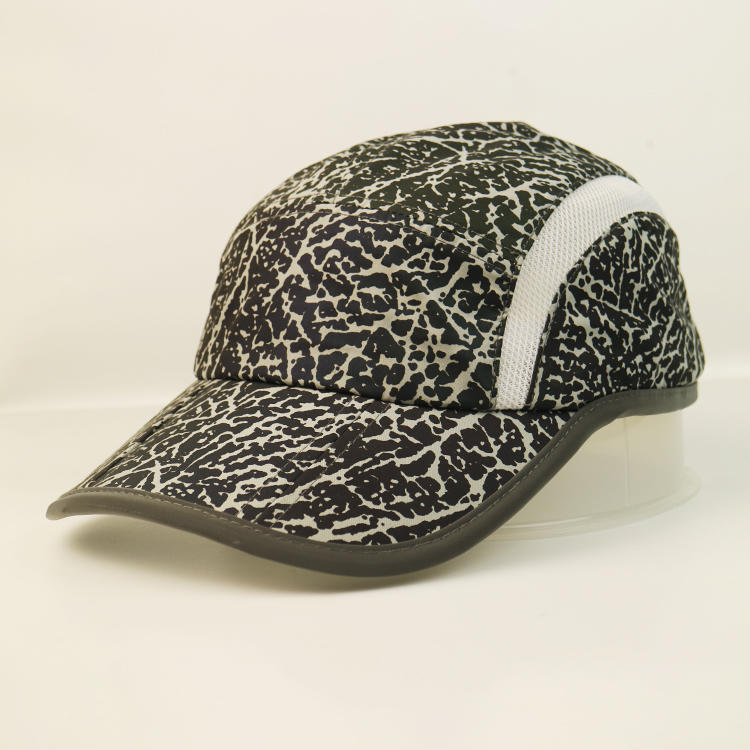 High-end leopard print curve brim sports cap hat