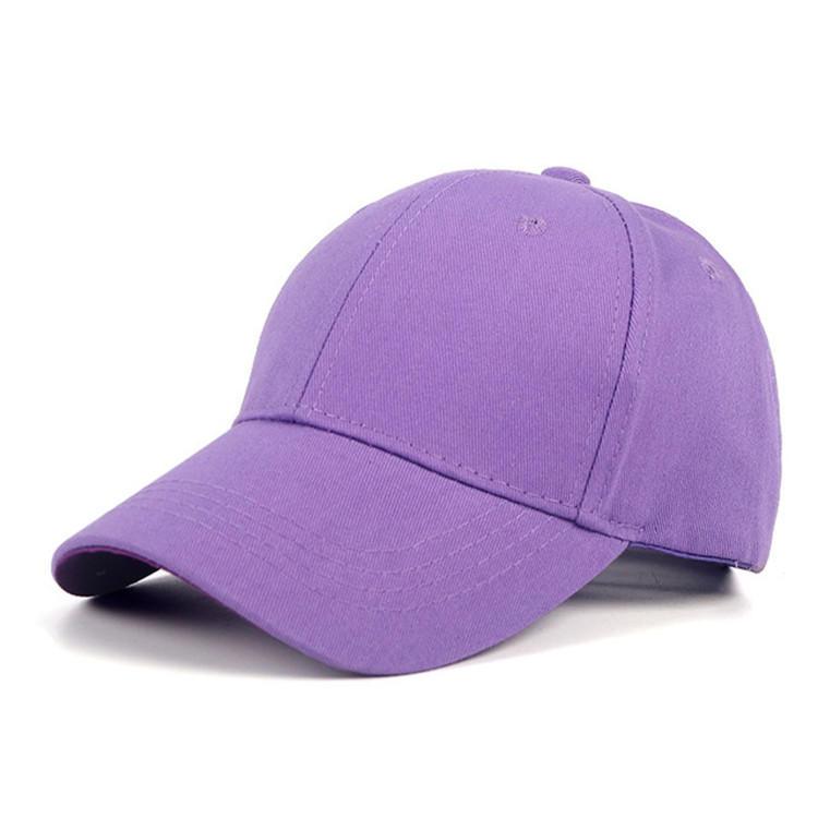 Summer Cotton Snapback Baseball Cap Men Women Child Solid Bone Blank Cap