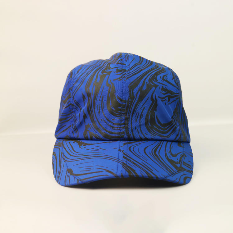 Customized 5panel Unstructured Dry-fit Special Print Golf Logo Sports Caps Hats
