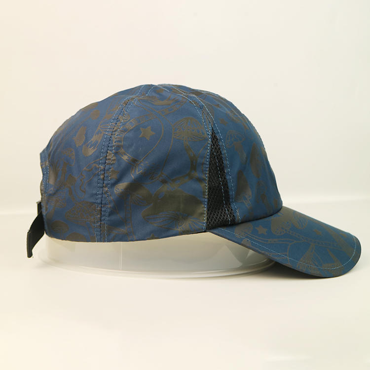 6 Panel Unstructured Printed Baseball Army Military Hats And Caps