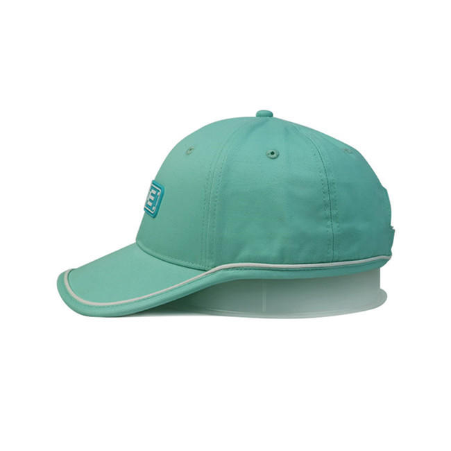 Fashion structured 6 panel dad hats custom 100% cotton twill curved brim baseball  hat with rubber patch