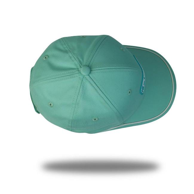 OEM design 100% cotton  6 panel baseball cap curved visor and rubber patch baseball cap